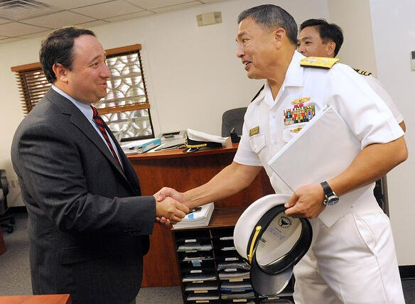 Navy Rear Admiral visits Marlin Steel