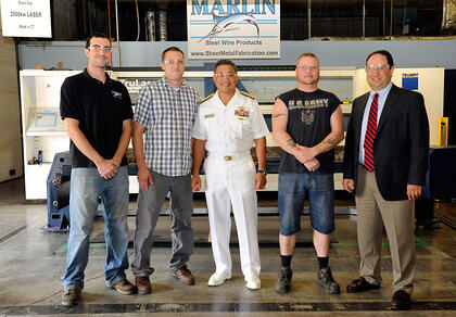 Rear Admiral Visits Marlin
