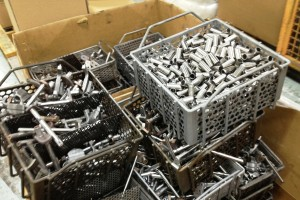 This parts remanufacturing basket helped Cummins increase the efficiency of their remanufacturing process.