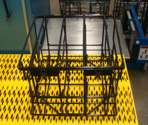 Wire mesh baskets such as this are useful for a variety of wash processes.