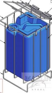 Detergent basket with klid/Marlin Steel