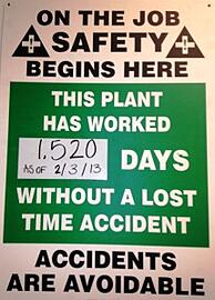 Latest safety sign update at Marlin Steel