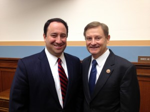 Marlin Steel President Drew Greenblatt and Rep. Spencer Bachus of Alabama, chairman of the Subcommittee on Regulatory Reform, Commercial and Antitrust Law