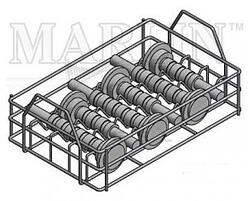 Marlin Steel's basket with dividers