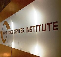 Marlin Steel sheet metal sign for World Trace Center Institute