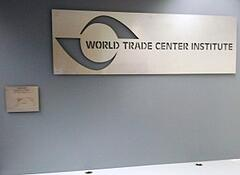New World Trade Center Institute sign