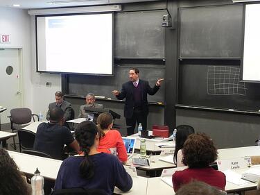 Marlin Steel President Drew Greenblatt at MIT Sloan School of Management graduate class