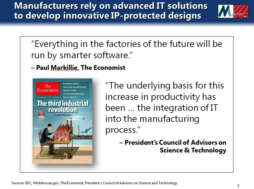 Manufacturers rely on advanced IT solutions to develop innovative designs