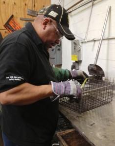 Marlin Steel's Hector Carmona building FDR basket