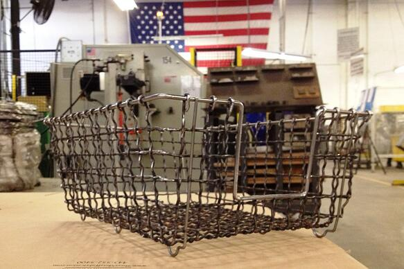 FDR basket on workbench at Marlin Steel