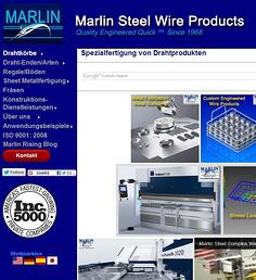 Marlin Steel website in German