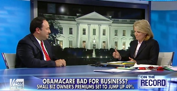 Marlin Steel president on health care on Greta Van Susteren last night