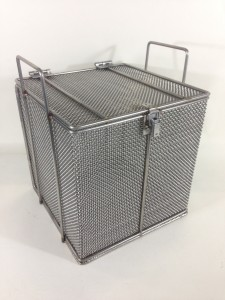 Custom Mesh Baskets with a lid and handles - stainless steel