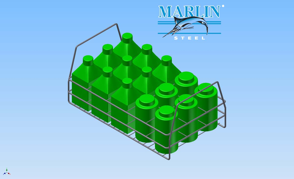Marlin Steel Wire Basket 1934001