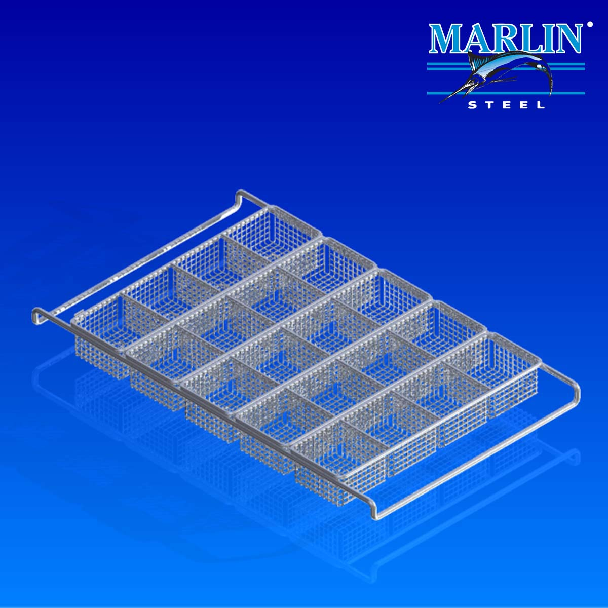 Marlin Steel Wire Basket with Dividers 388009