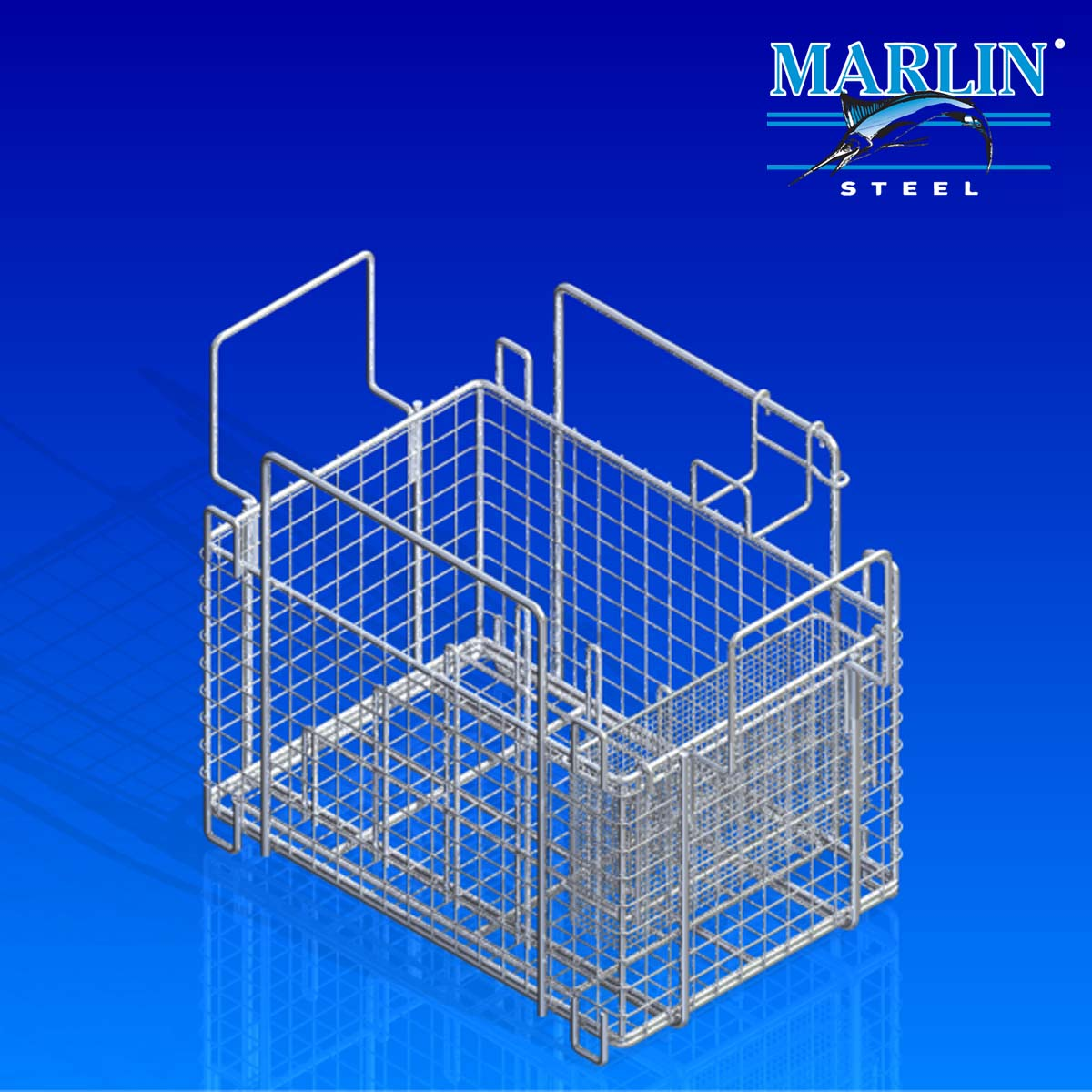 Wire Basket With Handles 475001