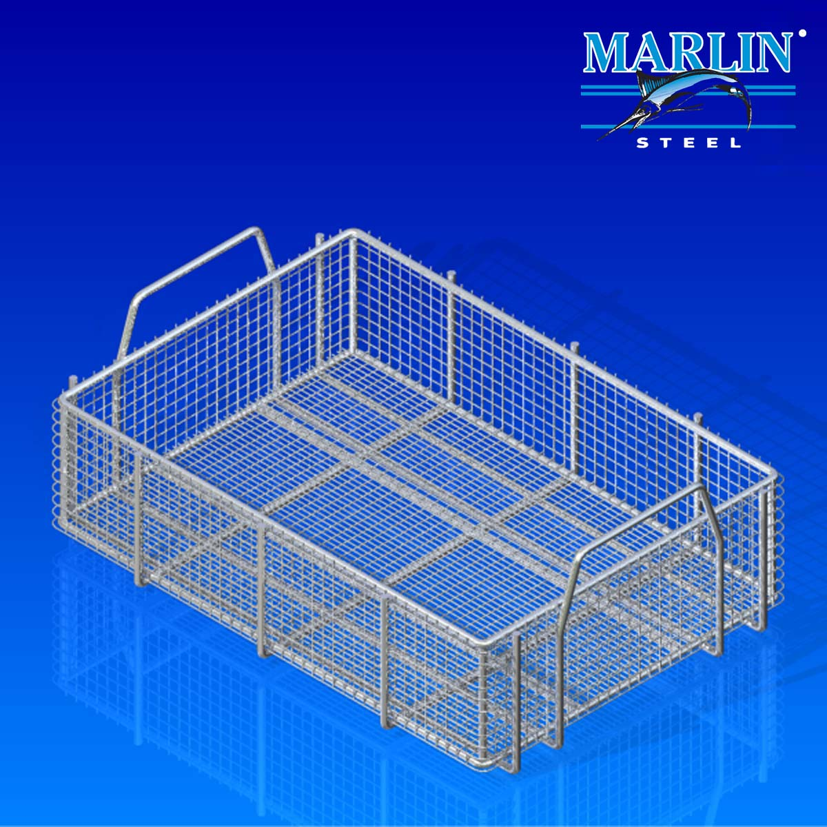 Marlin Steel Basket with Handles 558003