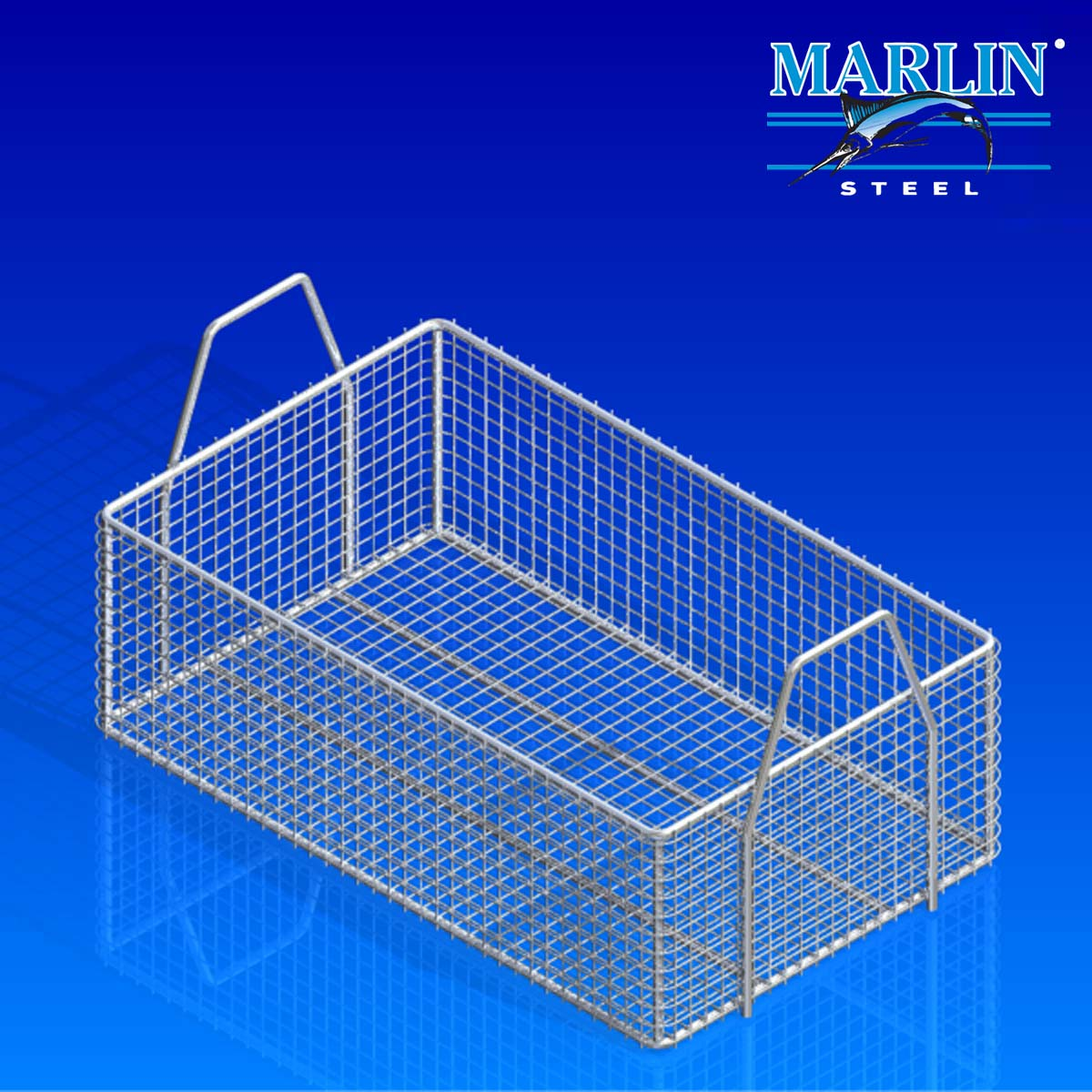 Marlin Steel Basket with Handles 659002