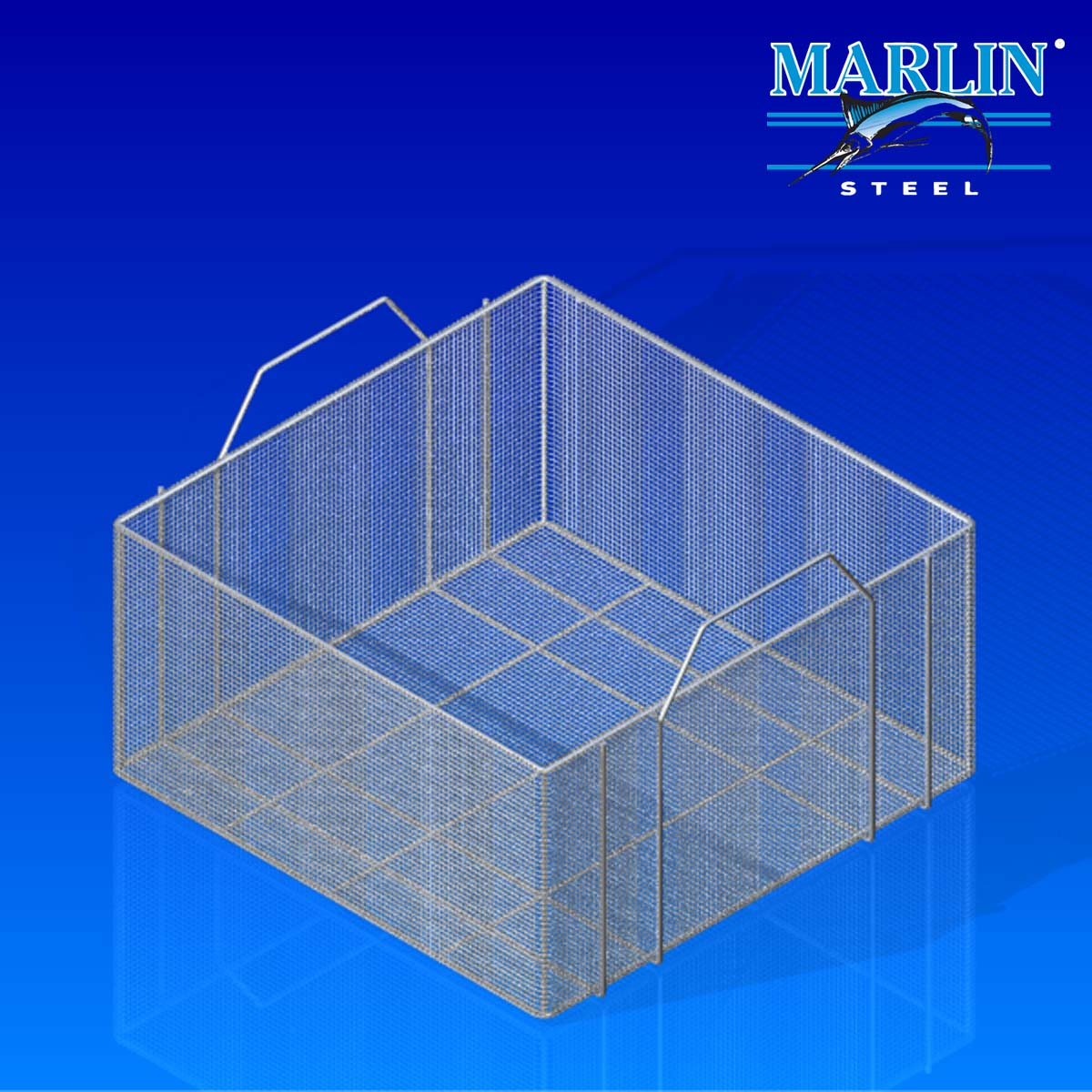 Marlin Steel Wire Basket with Handles 778001