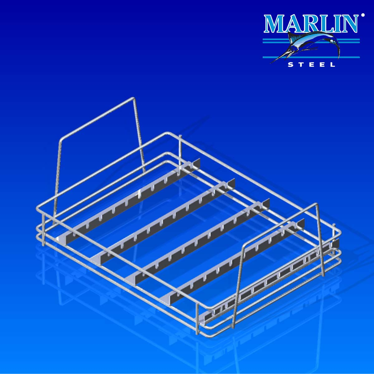 Marlin Steel Wire Basket with Dividers 825004