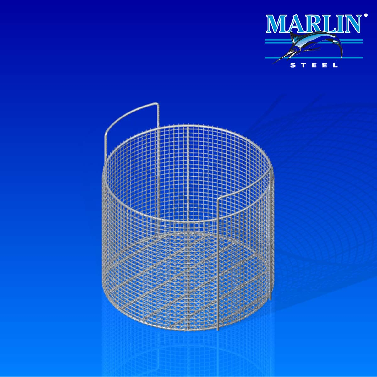 Marlin Steel Round Basket 853001