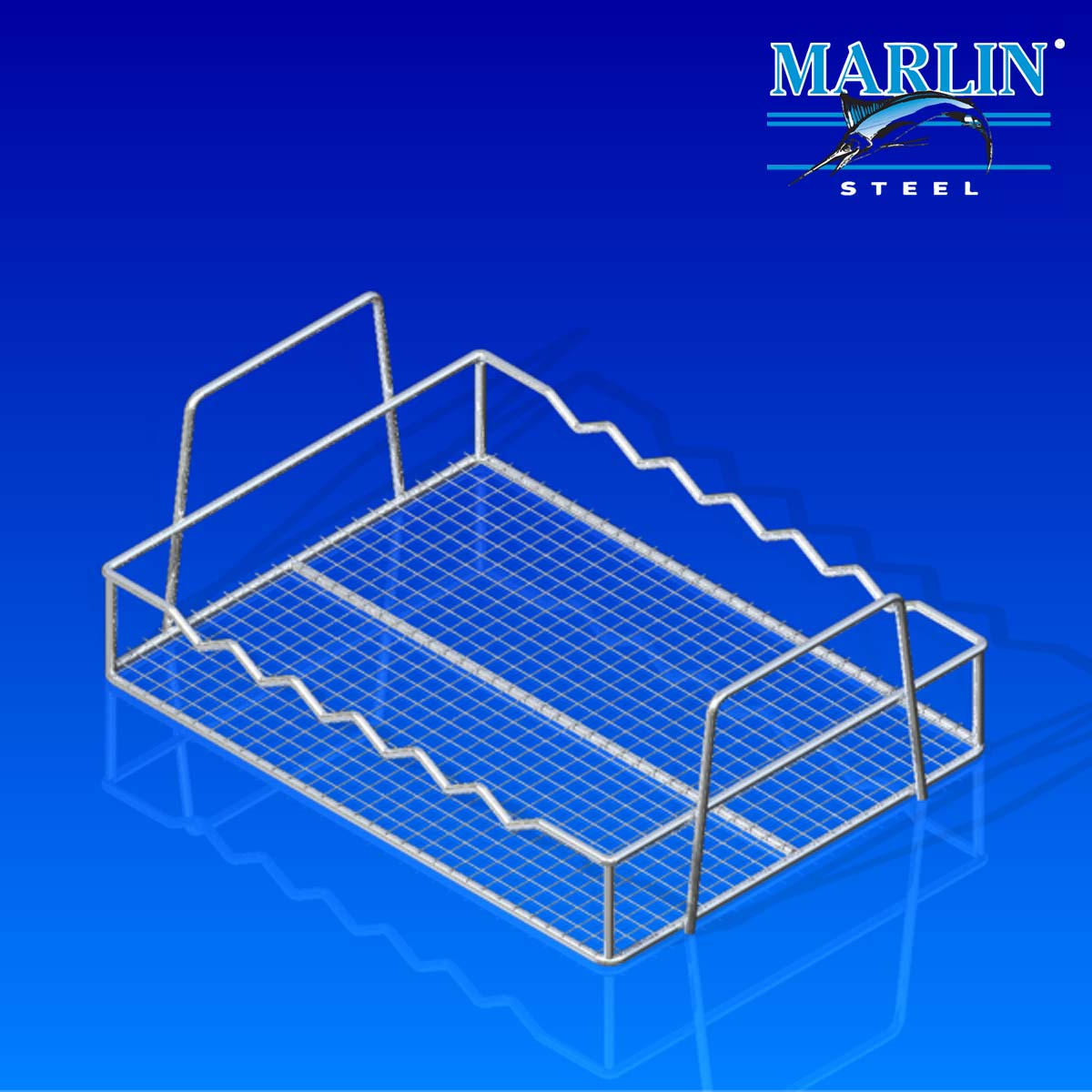 Marlin Steel Basket with Handles 854001