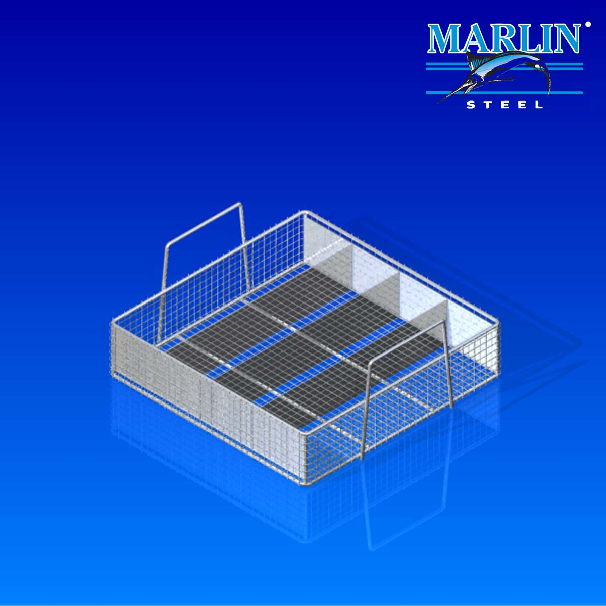Wire Baskets with Handles and Dividers 920002