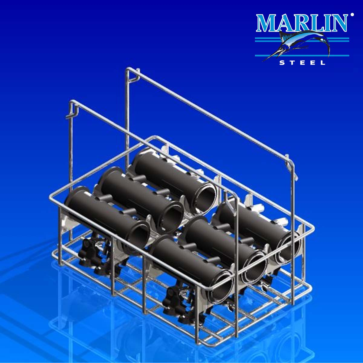 Marlin Steel Wire Basket with Dividers 1011002