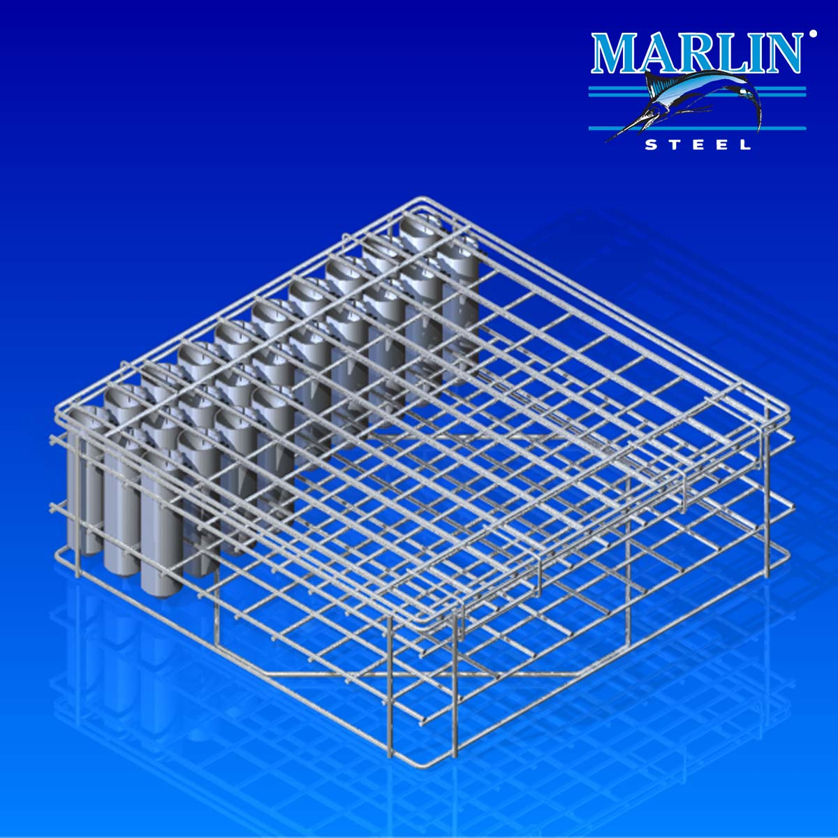Wire Basket with Dividers 1058001
