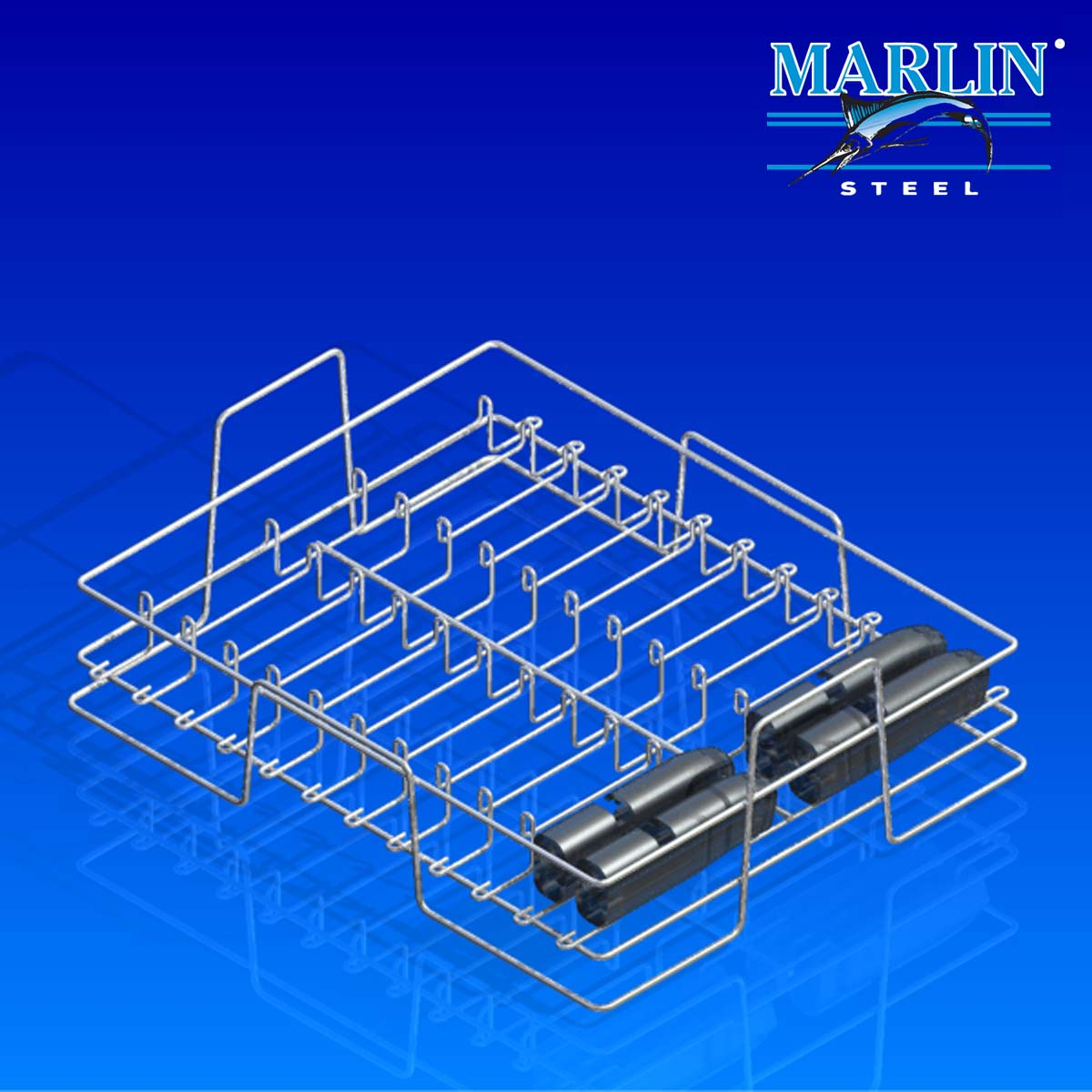 Wire Basket with Dividers 75001