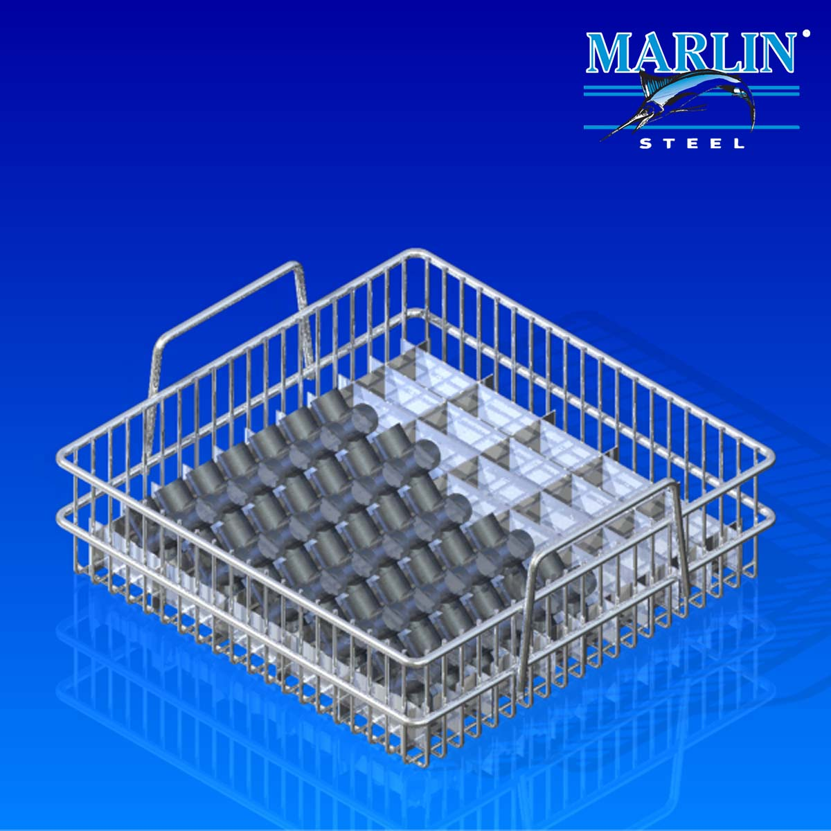 Marlin Steel Wire Material Handling Basket 133007