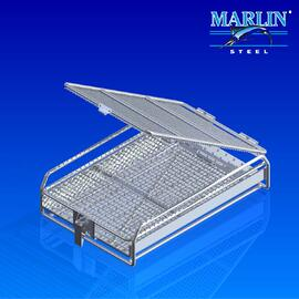 Wire Basket with Dividers 147009
