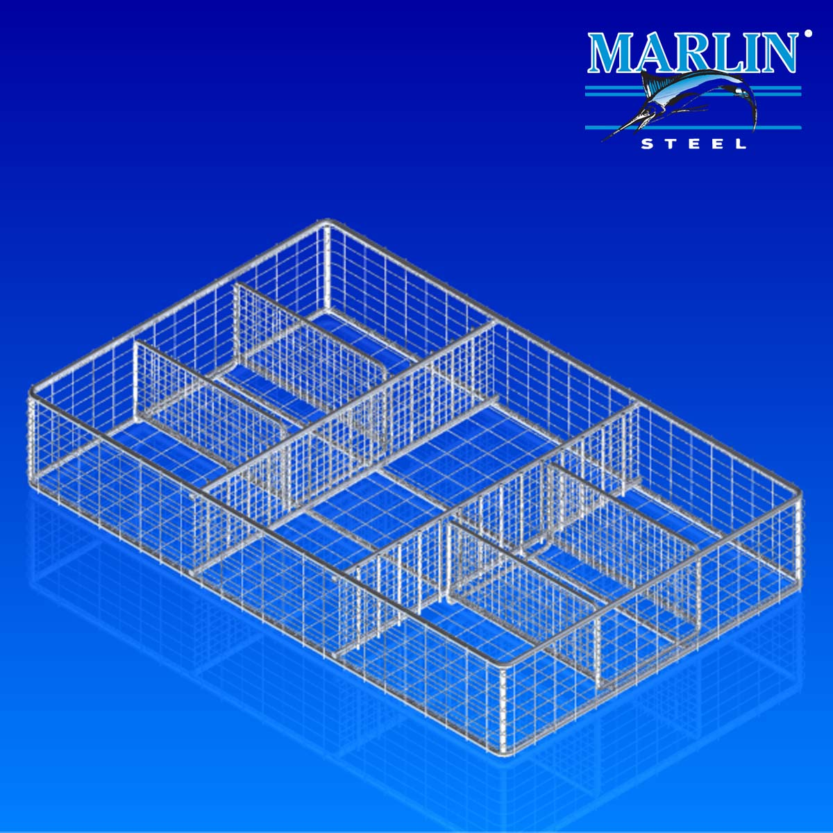 Wire Basket with Dividers 297001