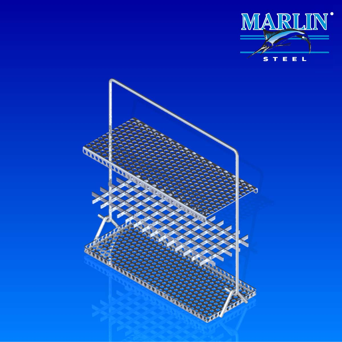 Marlin Steel Wire Baskets with Handles and Dividers 701001