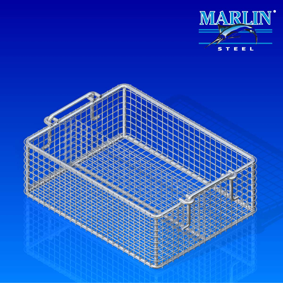 Marlin Steel Basket with Handles 775001