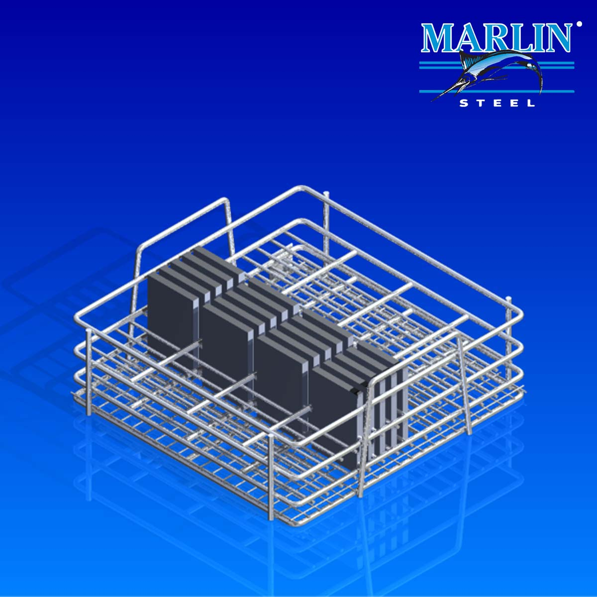 Marlin Steel Material Handling Basket with Handles 876001