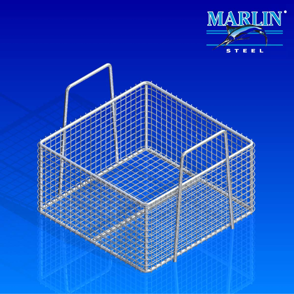 Marlin Steel Basket with Handles 895001
