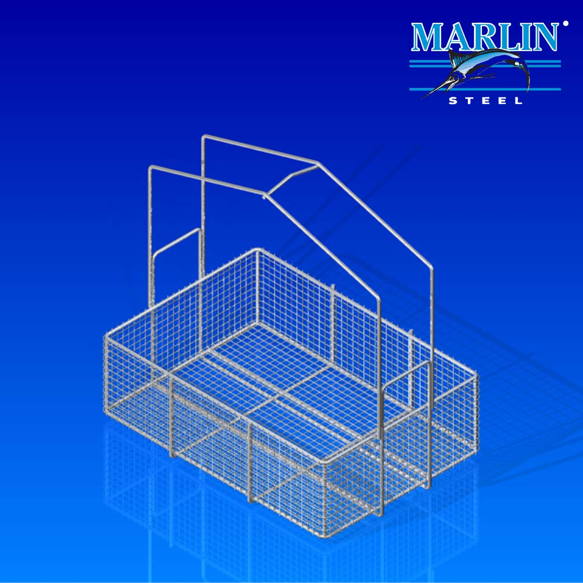 Marlin Steel Basket with Handles 898001
