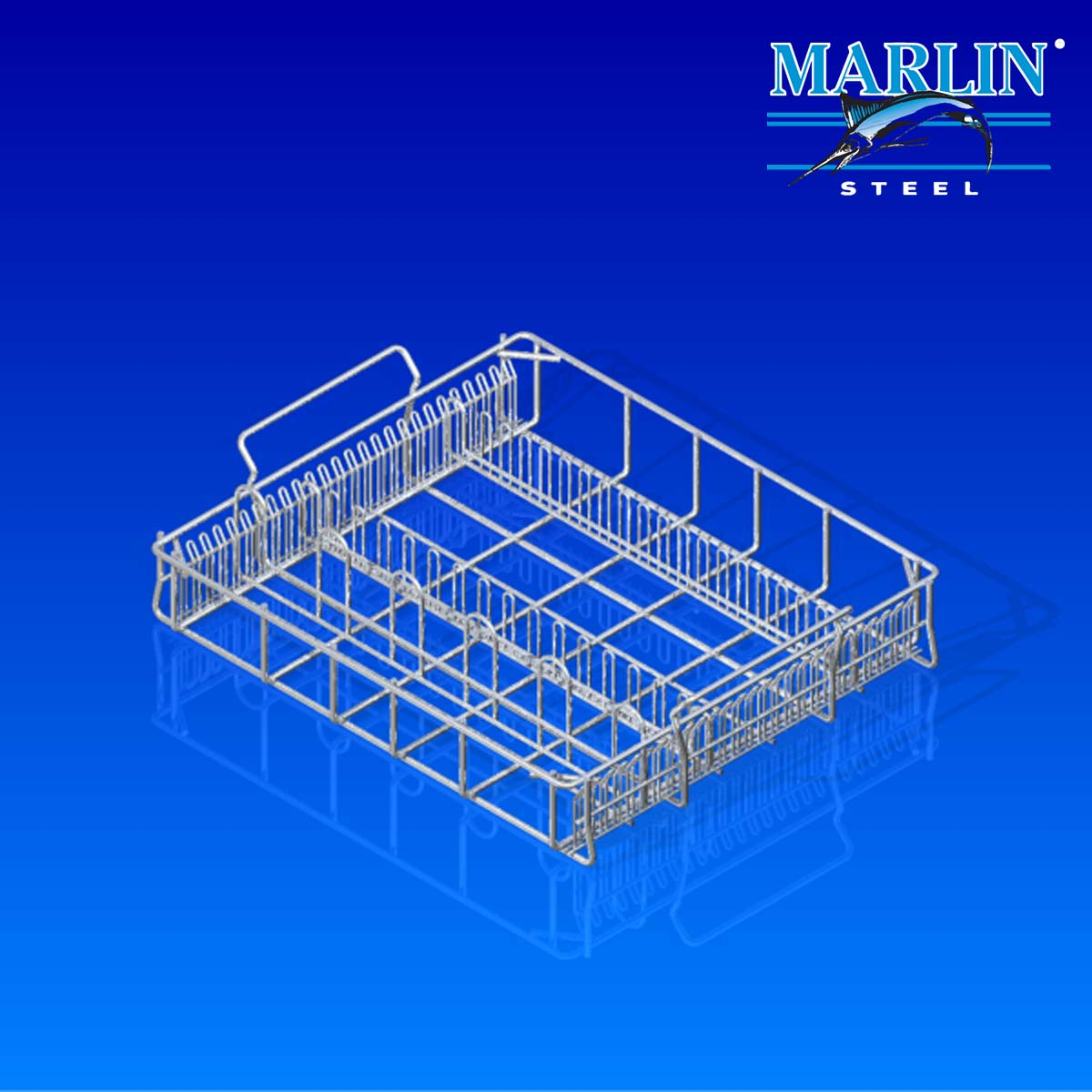 Marlin Steel Wire Basket with Handles 937001