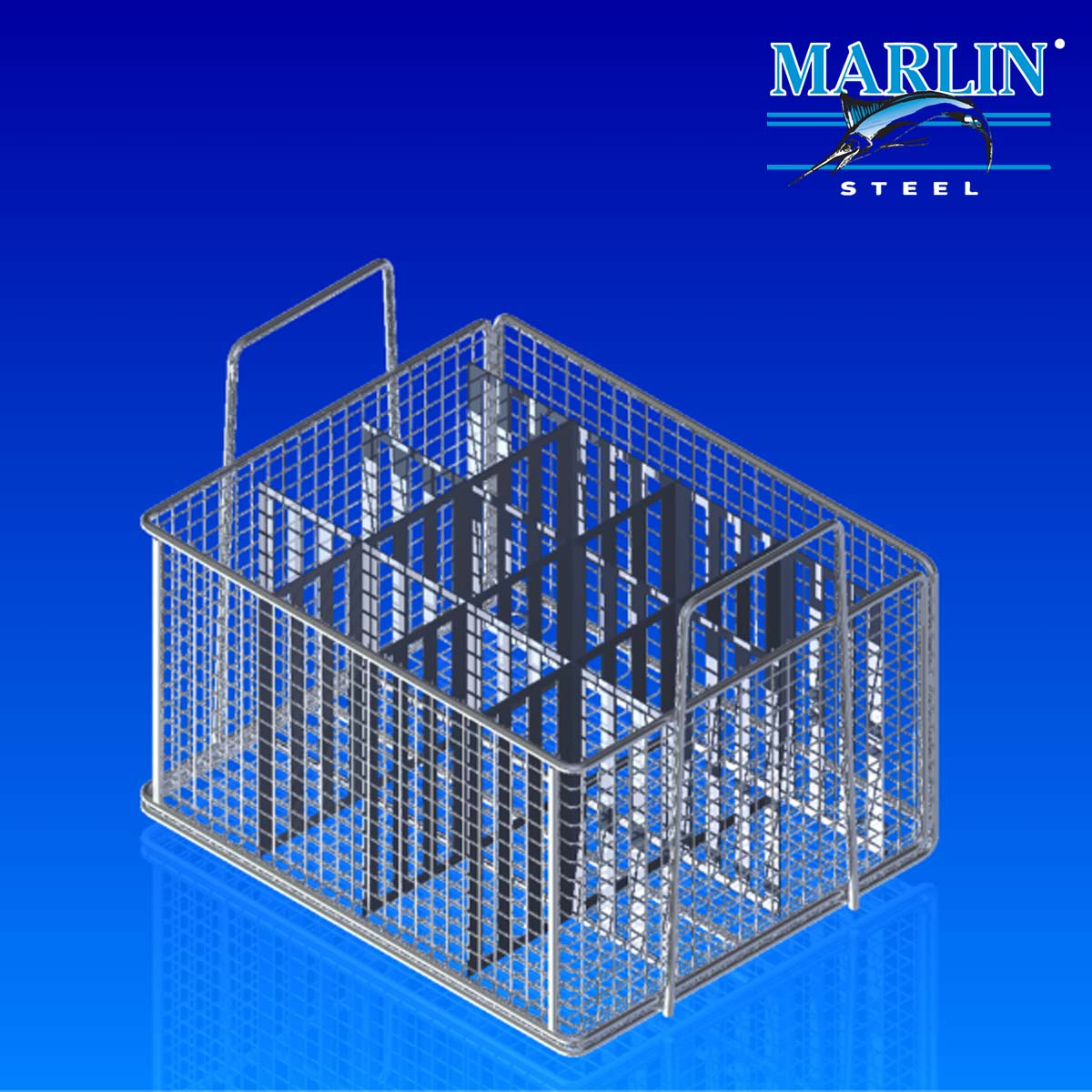 Marlin Steel Wire Basket with Dividers 1073002