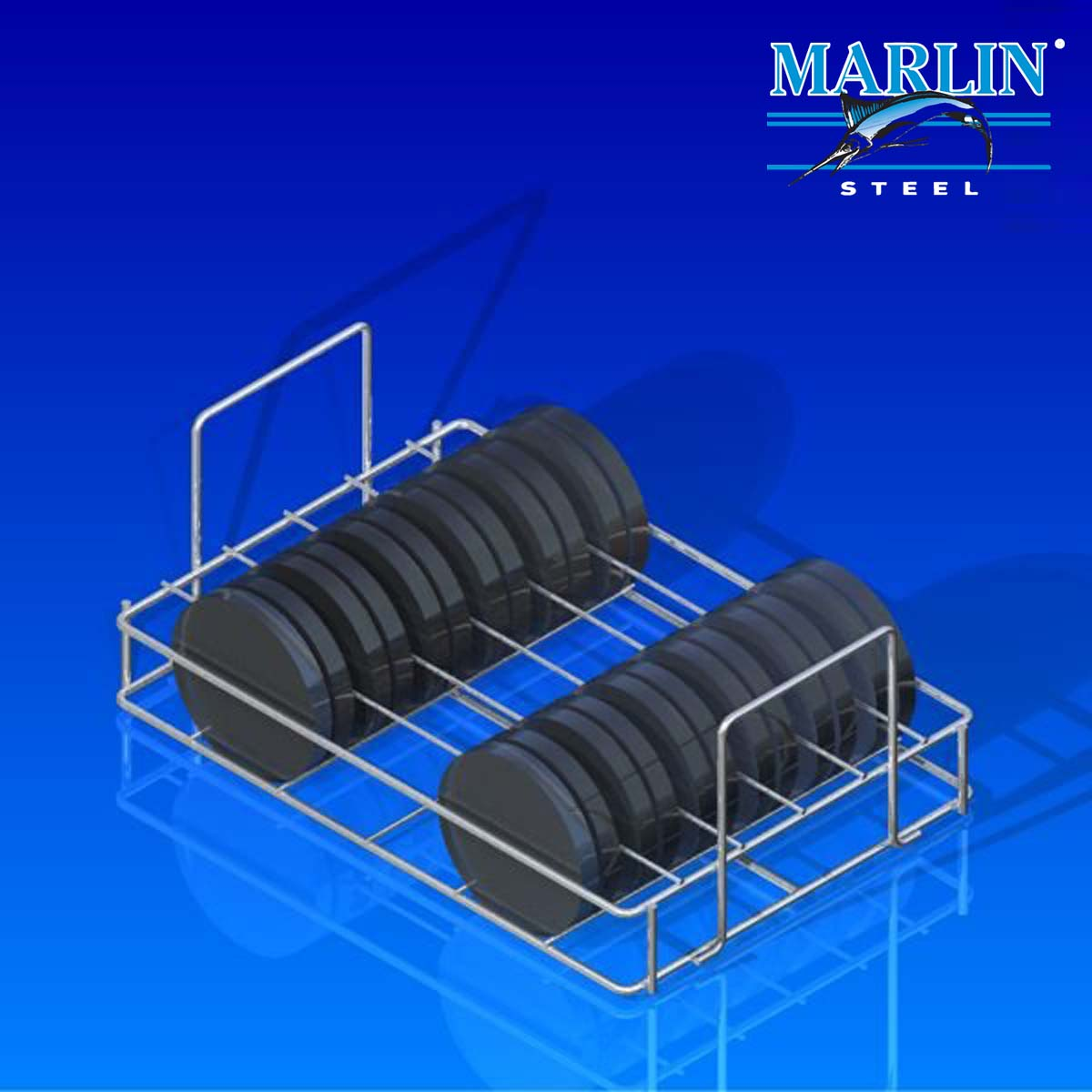 Marlin Steel Wire Baskets with Dividers 1131001