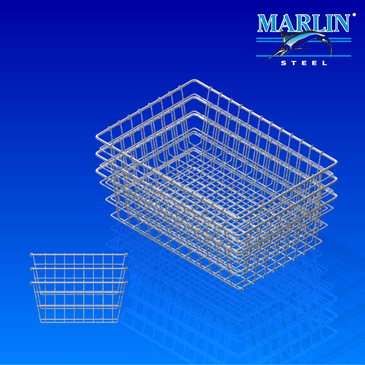 Marlin Steel Wire Basket Nesting