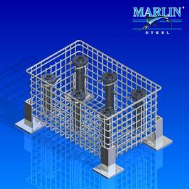 Ultrasonic Cleaning Basket 438005