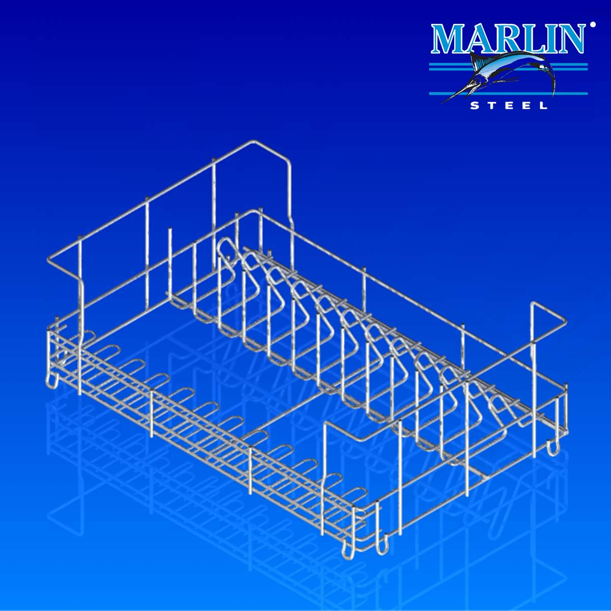Marlin Steel Wire Basket with Dividers 75002