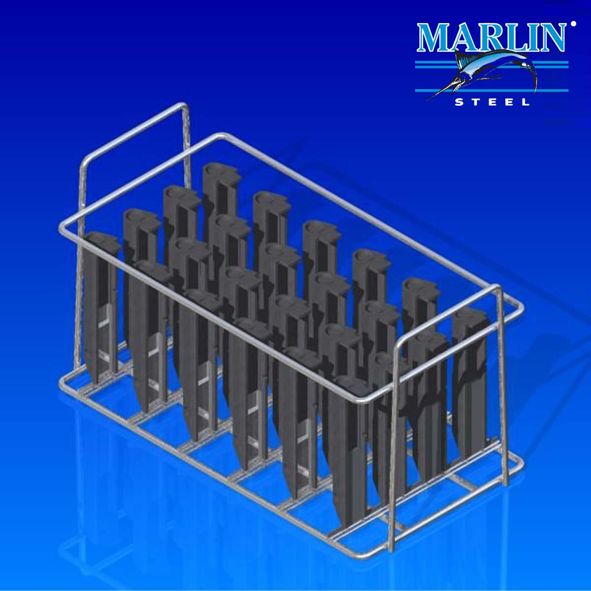 Marlin Steel Wire Basket with Dividers 75006