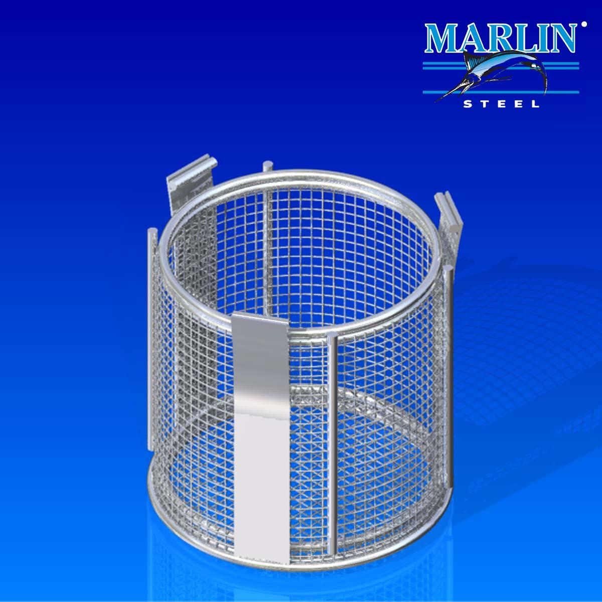 Marlin Steel Round Basket 395002