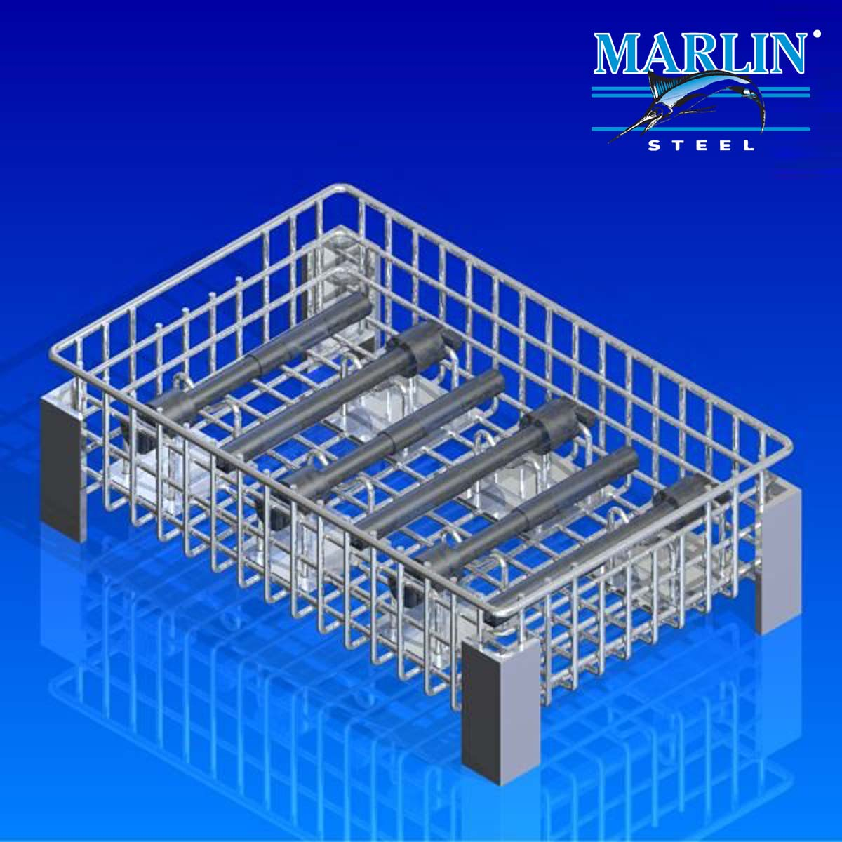 Marlin Steel Wire Basket with Dividers 438004