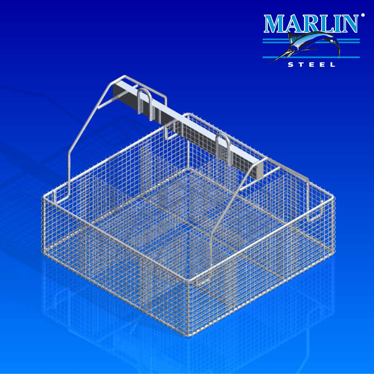 Marlin Steel Wire Basket with Dividers 443002