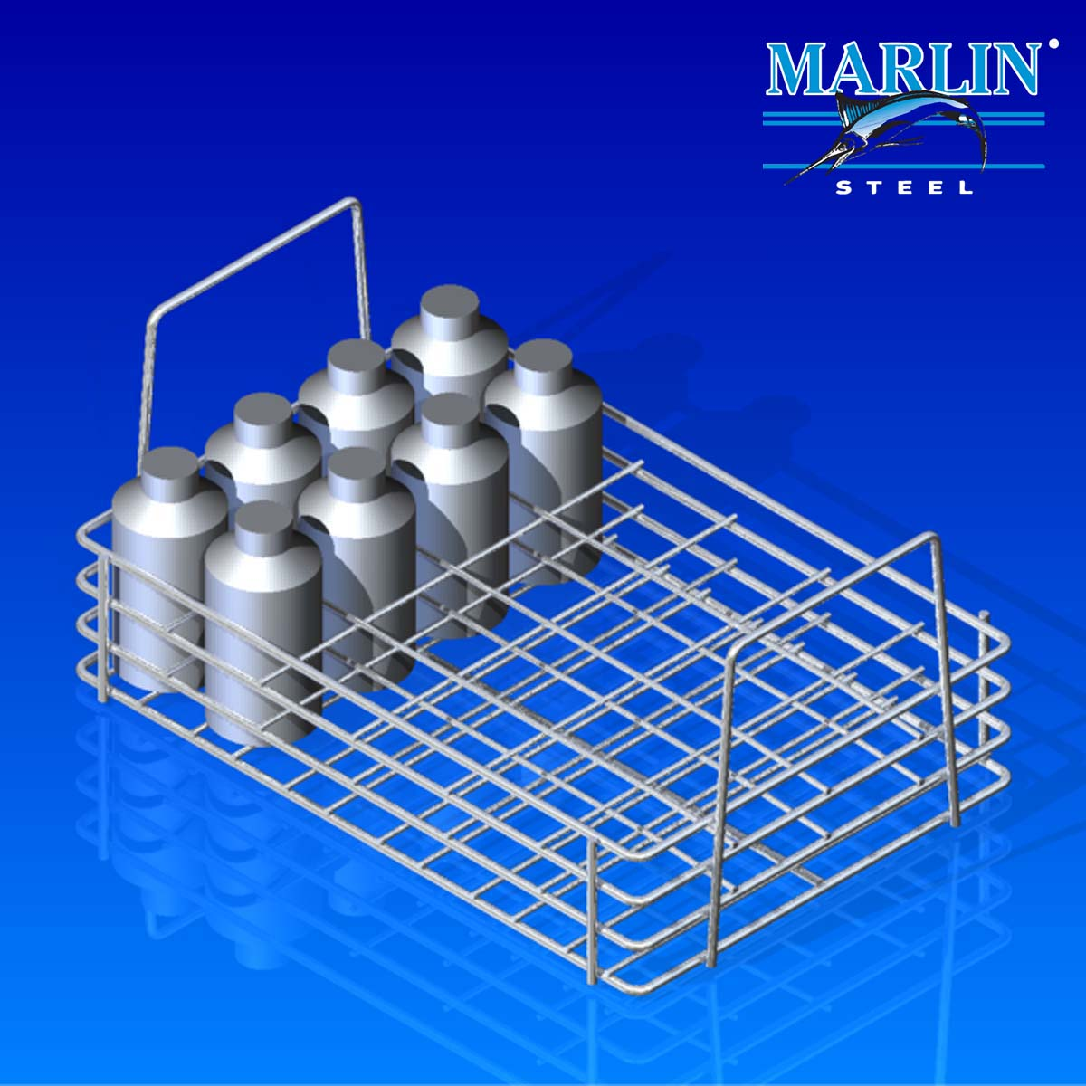 Marlin Steel Wire Basket with Dividers 1041001