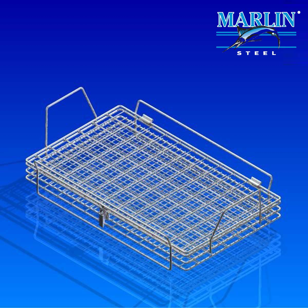 Marlin Steel Wire Baskets with Lids 1119001